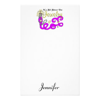 (It's All About The) Jewelry Mermaid Stationery Paper