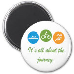 It's all about the journey - Triathlon 2 Inch Round Magnet
