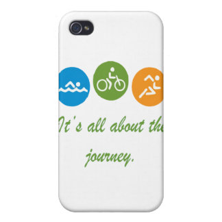 It's all about the journey - Triathlon Cases For iPhone 4