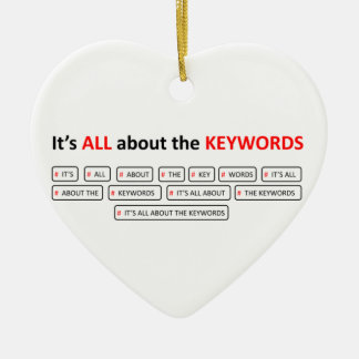 It's ALL about the KEYWOR Double-Sided Heart Ceramic Christmas Ornament
