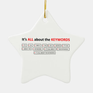 It's ALL about the KEYWOR Double-Sided Star Ceramic Christmas Ornament