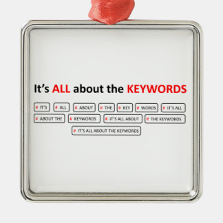 It's ALL about the KEYWOR Square Metal Christmas Ornament