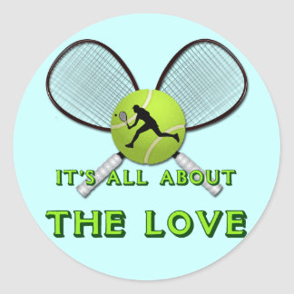 IT'S ALL ABOUT THE LOVE CLASSIC ROUND STICKER