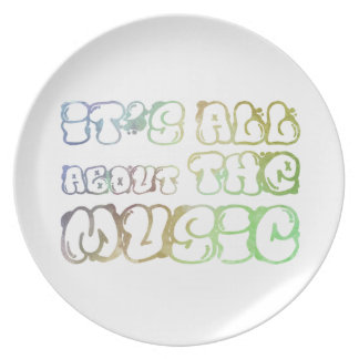 It's all about the music - i is love, it  is life dinner plate