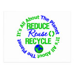 Its All About The Planet Reduce Reuse Recycle Postcard