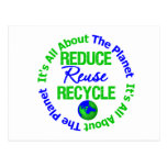 Its All About The Planet Reduce Reuse Recycle v1 Postcard
