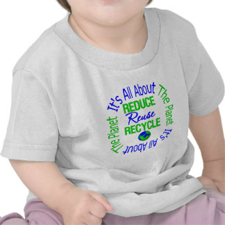 Its All About The Planet Reduce Reuse Recycle v2 Tee Shirts