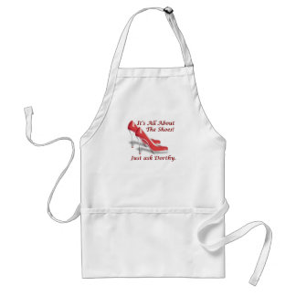 It's all about the shoes adult apron