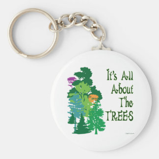 It's All About The Trees Green Slogan Keychain