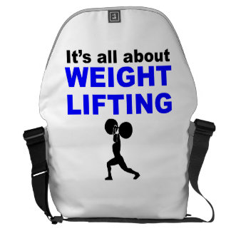 It's All About Weightlifting Messenger Bag