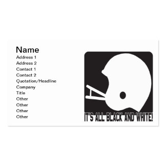 Its All Black And White Business Card Templates