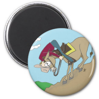 It's all downhill from here 2 inch round magnet