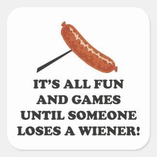 It's All Fun And Games Square Sticker