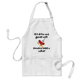 It's All Fun And Games till someone loses a weiner Adult Apron