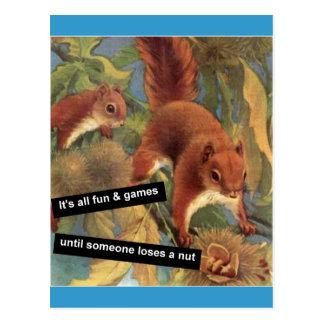 It's All Fun And Games Until Someone Loses A Nut Postcard