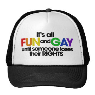 It's all fun and gay rights trucker hat