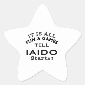It's All Fun & Games Till Iaido Starts Star Sticker