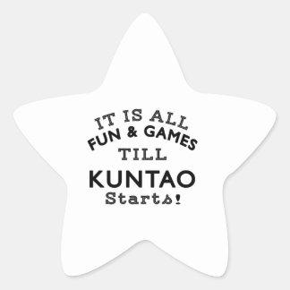 It's All Fun & Games Till Kuntao Starts Star Sticker