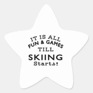 It's All Fun & Games Till Skiing Starts Sticker