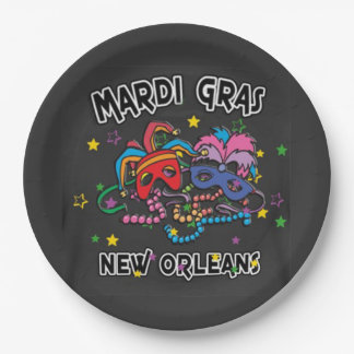It's All Fun Mardi Gras Party Paper Plate