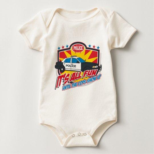 Its All Fun Police Baby Bodysuit