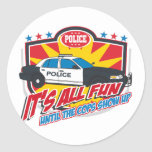 Its All Fun Police Round Stickers