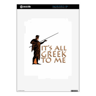Its All Greek Decal For iPad 2
