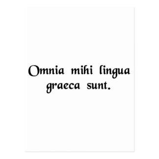 It's all Greek to me. Postcard