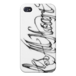 Its All Heart lifestyle iPhone 4 case