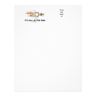 It's All In The DNA Molecular Biology Humor Letterhead