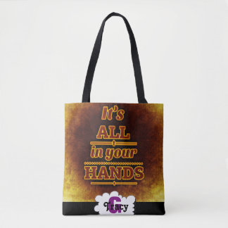 It's all in your hands vibrant monograms bag