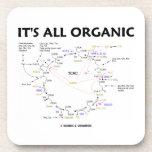 It's All Organic (Krebs Cycle) Beverage Coasters