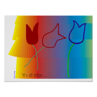 it's all tulips (Poster) Poster