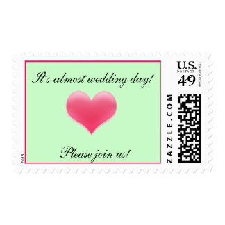 It's almost wedding day postage stamp