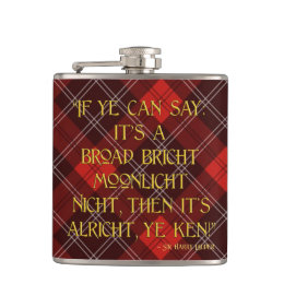 It's Alricht, Ye Ken! - Sir Harry Lauder Hip Flask