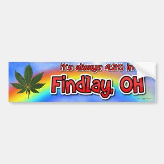 it's always 4:20 in Findlay, OH Bumper Sticker