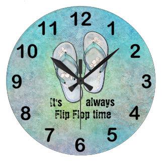 It's always Flip Flop Time Large Clock