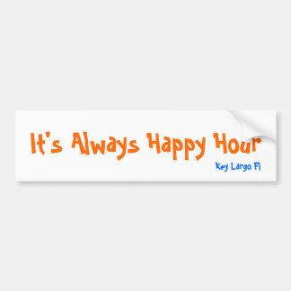 It's Always Happy Hour, Key Largo Fl Car Bumper Sticker