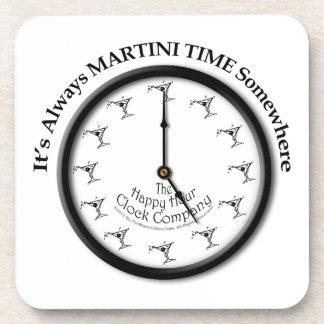 IT'S ALWAYS MARTINI TIME SOMEWHERE CORK COASTERS