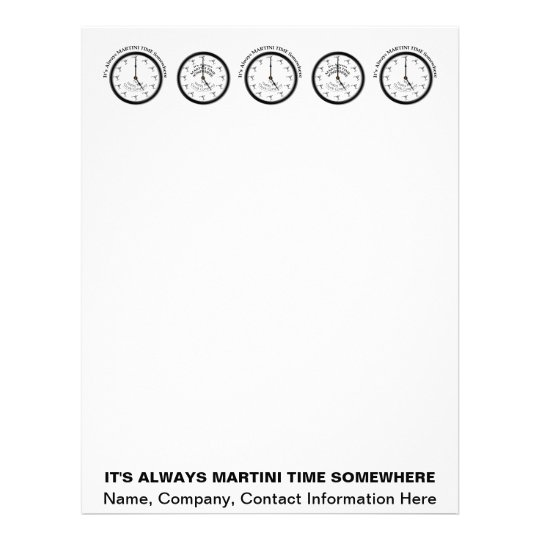 IT'S ALWAYS MARTINI TIME SOMEWHERE LETTERHEAD