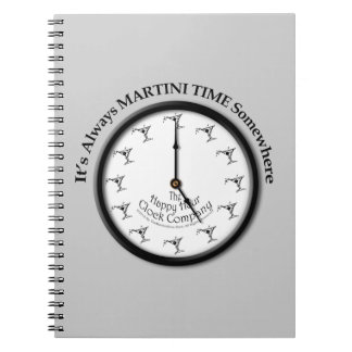 IT'S ALWAYS MARTINI TIME SOMEWHERE LUGGAGE TAG NOTE BOOK