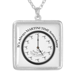 IT'S ALWAYS MARTINI TIME SOMEWHERE NECKLACE