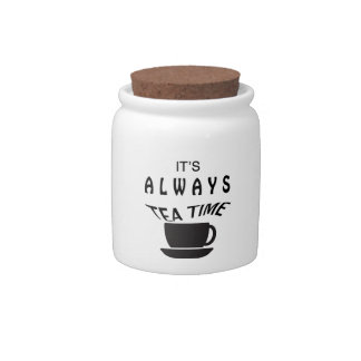 Its Always Tea Time Candy Jars