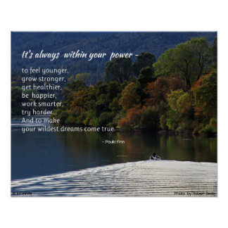 It's always within your power...Poster Poster