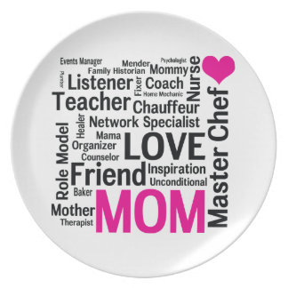 It's Amazing What Moms Can Do! Mothers Day Gift Melamine Plate