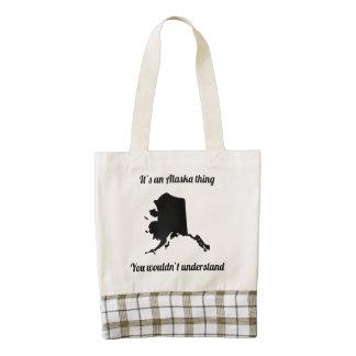 It's An Alaska Thing Zazzle HEART Tote Bag