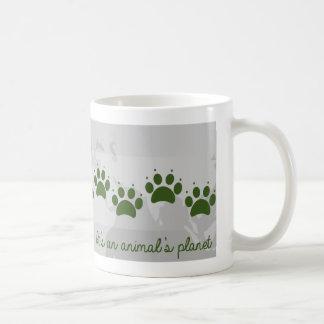 It's an animals planet classic white coffee mug