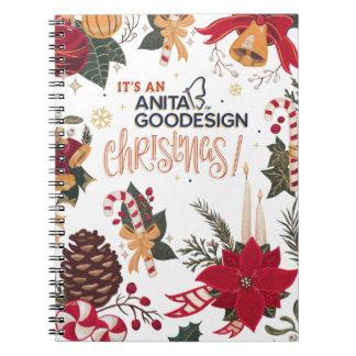 It's an Anita Goodesign Christmas Notebook! Spiral Notebook