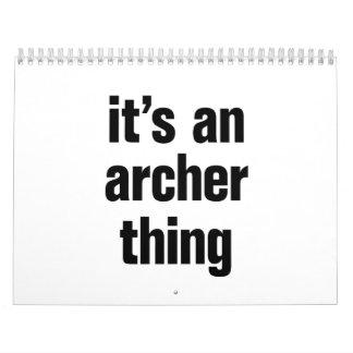 its an archer thing calendar