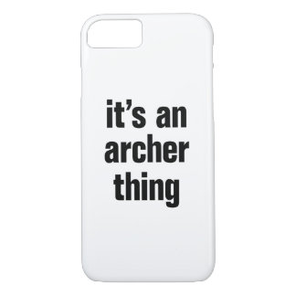its an archer thing iPhone 8/7 case